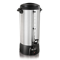 100 Cup Commercial Urn - One-Hand Dispensing, Brushed Aluminum