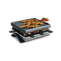 Raclette, 8 Person Non-Stick, Adjustable Temp