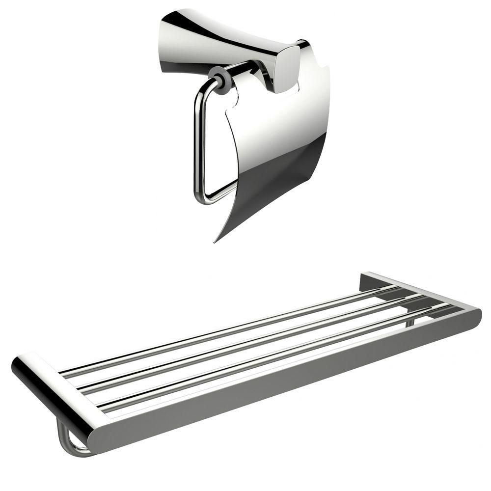 Multi-Rod Porte-serviettes avec un Chromé Toilet Paper Holder Accessory Set