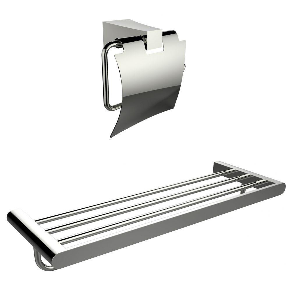 Multi-Rod Porte-serviettes avec un Chromé Toilet Paper Holder Accessory Set