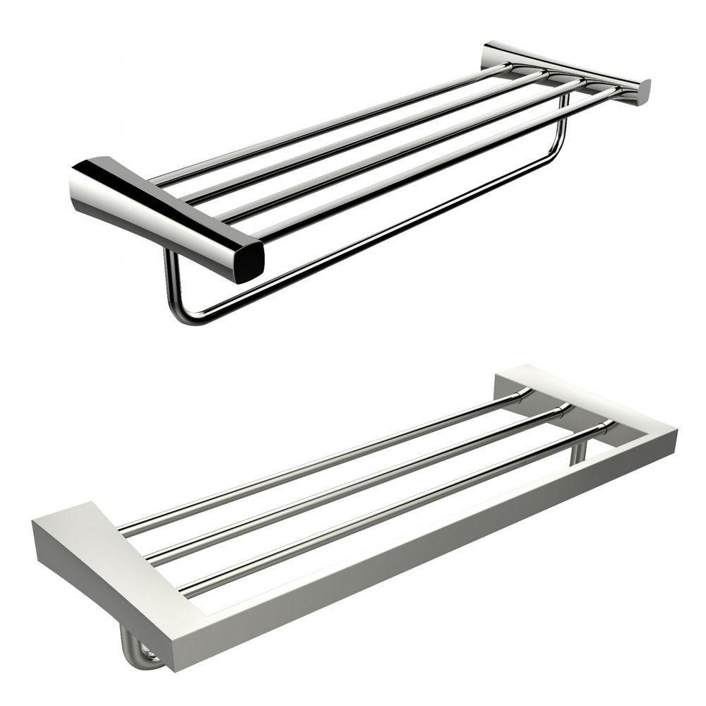Single Rod And Multi-Rod Towel Rack Accessory Set