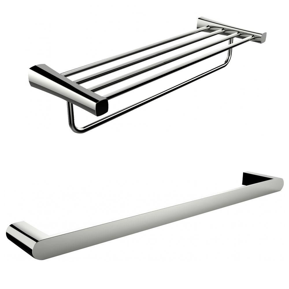 Single Rod And Multi-Rod Towel Rack Accessory Set