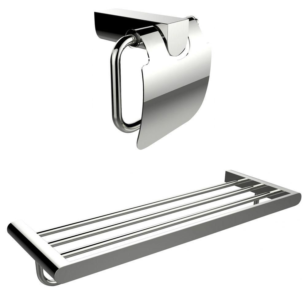 Chromé Toilet Paper Holder Avec Multi-Rod Porte-serviettes Accessory Set