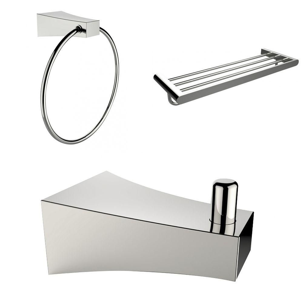 Robe Hook, Multi-Rod Towel Rack And Towel Ring Accessory Set AI-13535 in Canada