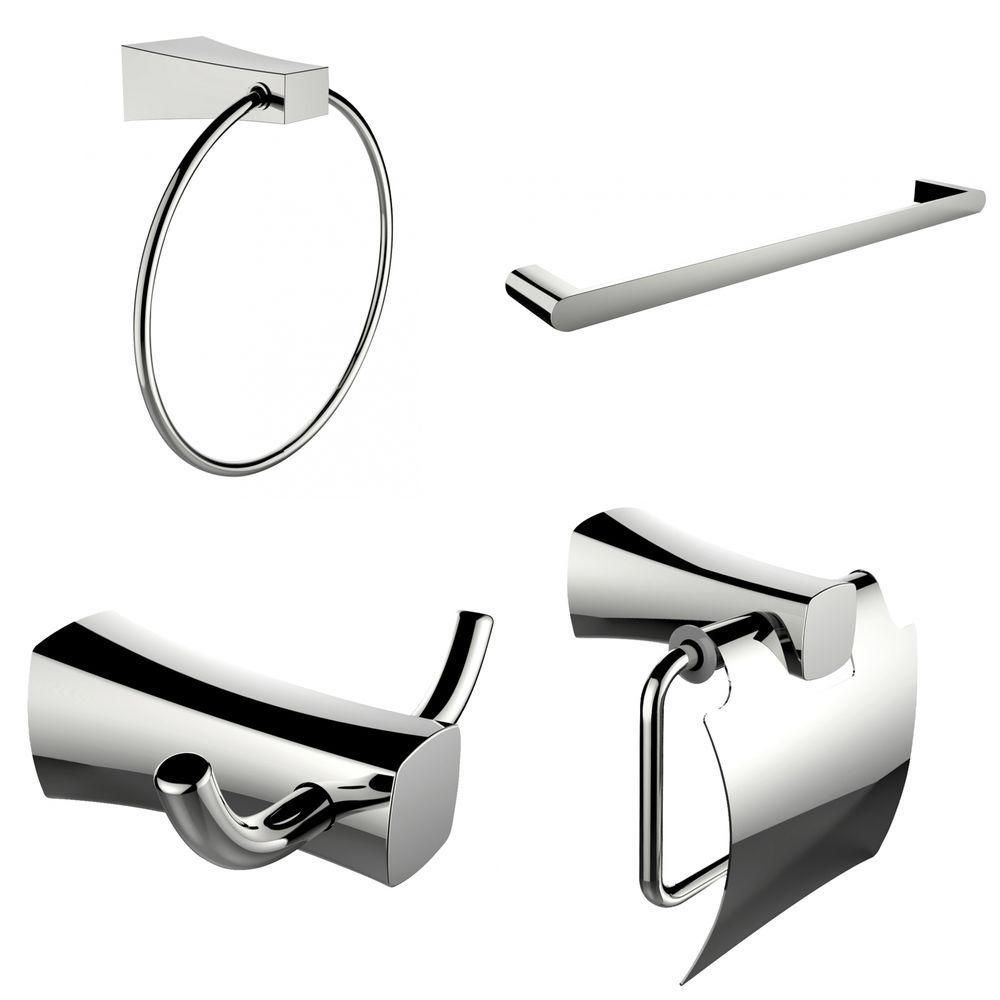 Single Rod Towel Rack, Robe Hook, Towel Ring And Toilet Paper Holder Accessory Set AI-13986 Canada Discount