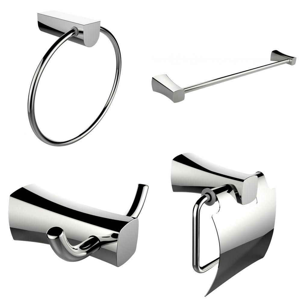 Single Rod Towel Rack, Robe Hook, Towel Ring And Toilet Paper Holder Accessory Set AI-13988 in Canada