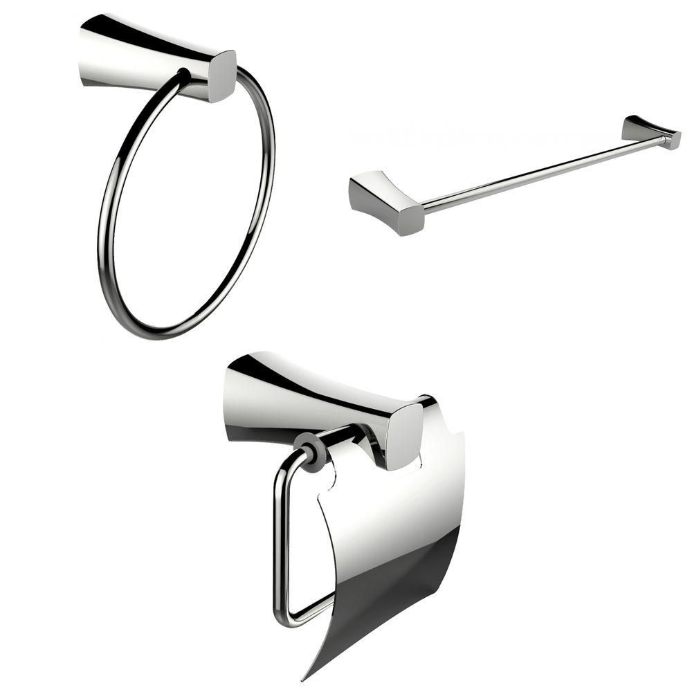 Anneau porte-serviettes moderne, Porte-serviettes simple tige Et Toilet Paper Holder Accessory Se...