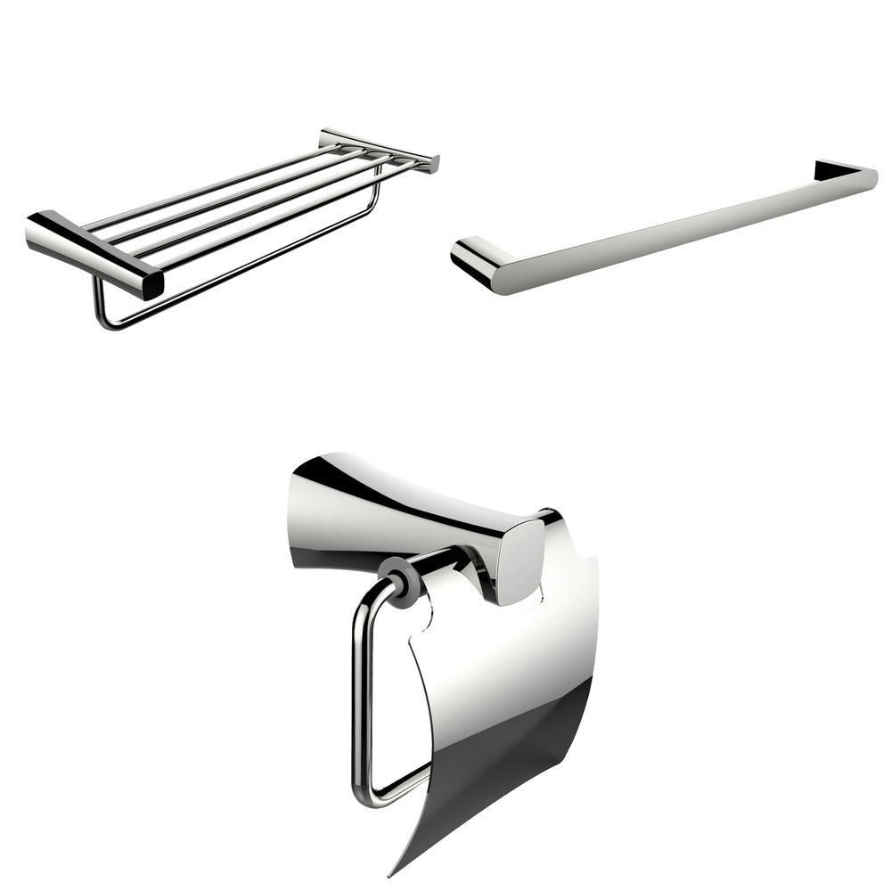 Single And Multi-Rod Towel Racks With Toilet Paper Holder Accessory Set