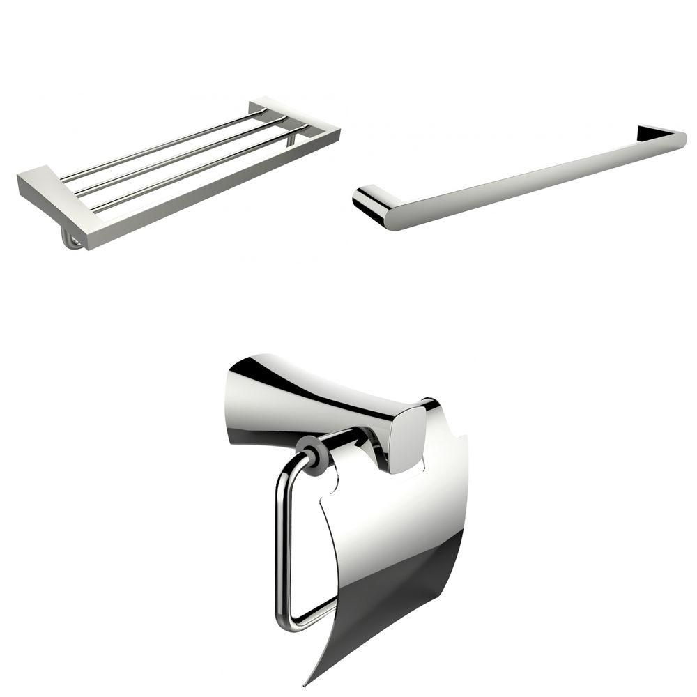Single And Multi-Rod Towel Racks With Toilet Paper Holder Accessory Set AI-13951 in Canada