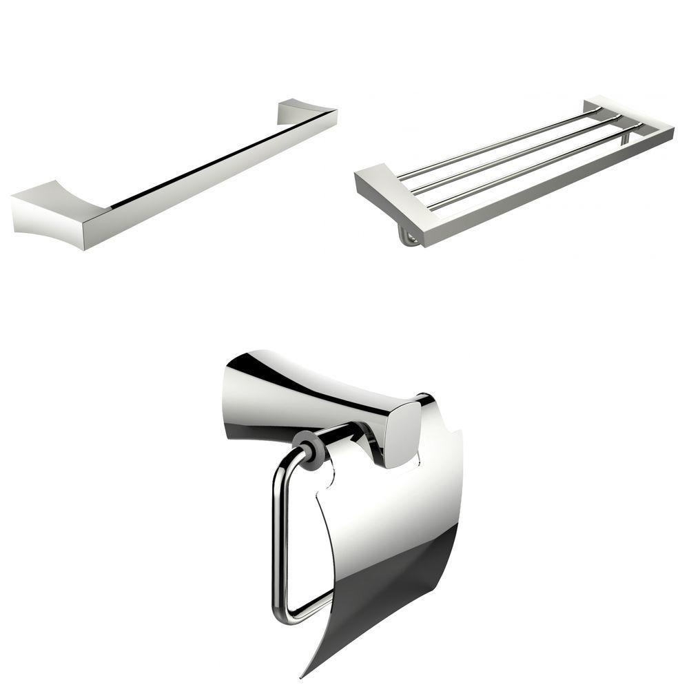 Porte-serviettes simple et multi-Rod Avec Toilet Paper Holder Accessory Set