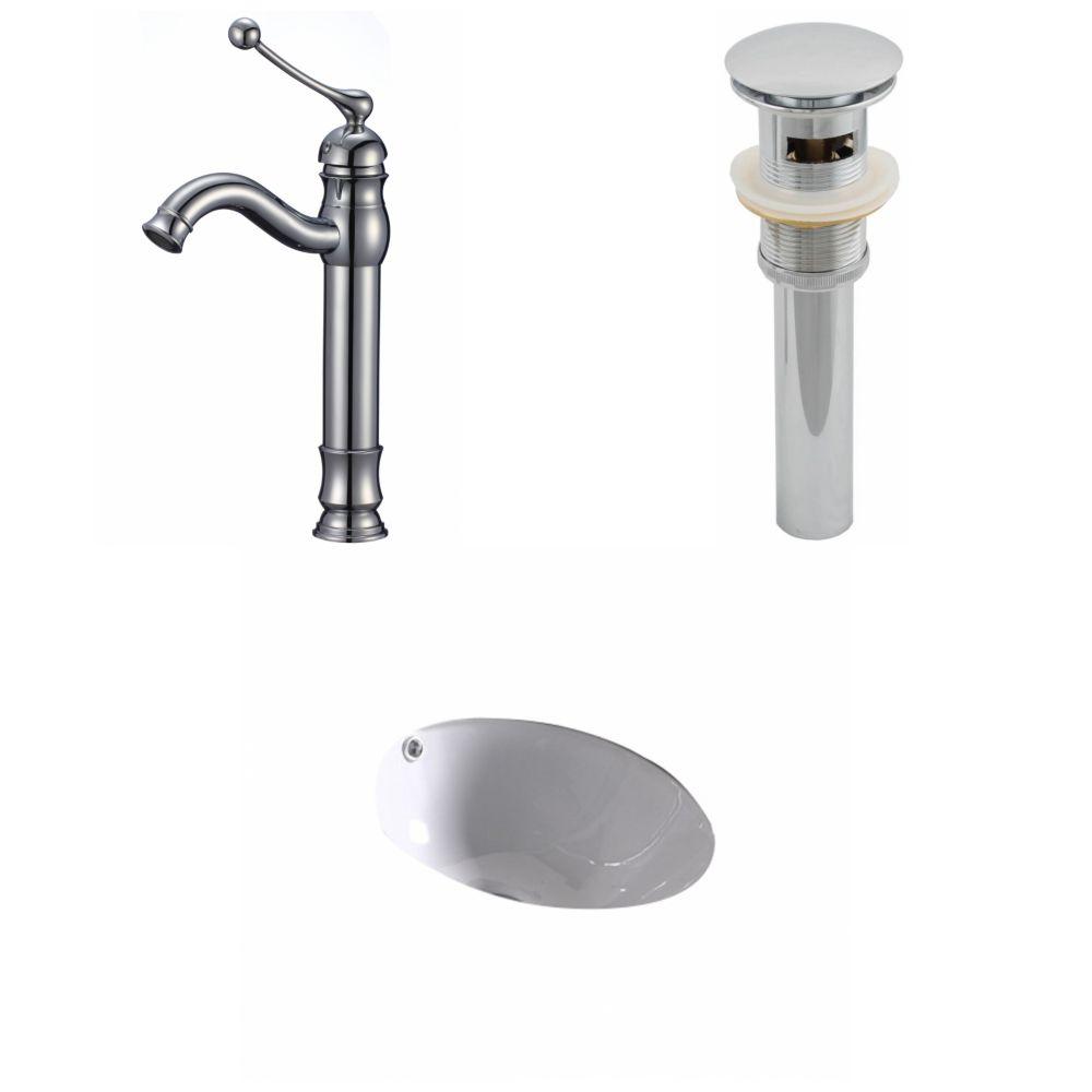 15 1/4-inch W x 15 1/4-inch D Deck-Mount Round Sink Set in White