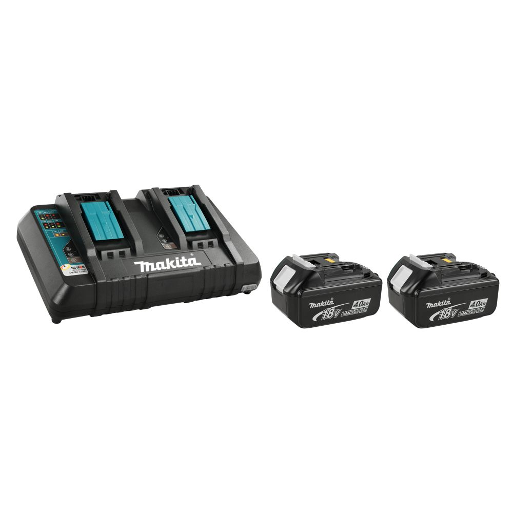 Makita 18v 4 0ah lithium ion battery two pack and dual - Batterie makita 18v ...