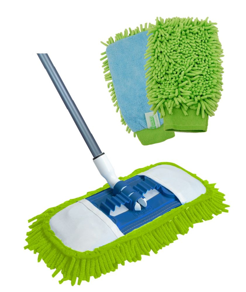 Microfiber Hardwood Dust Mop with Bonus Mitt