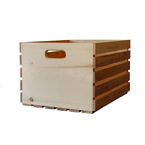 20-inch H x 14.5-inch L x 11.5-inch W Natural Pine Crate