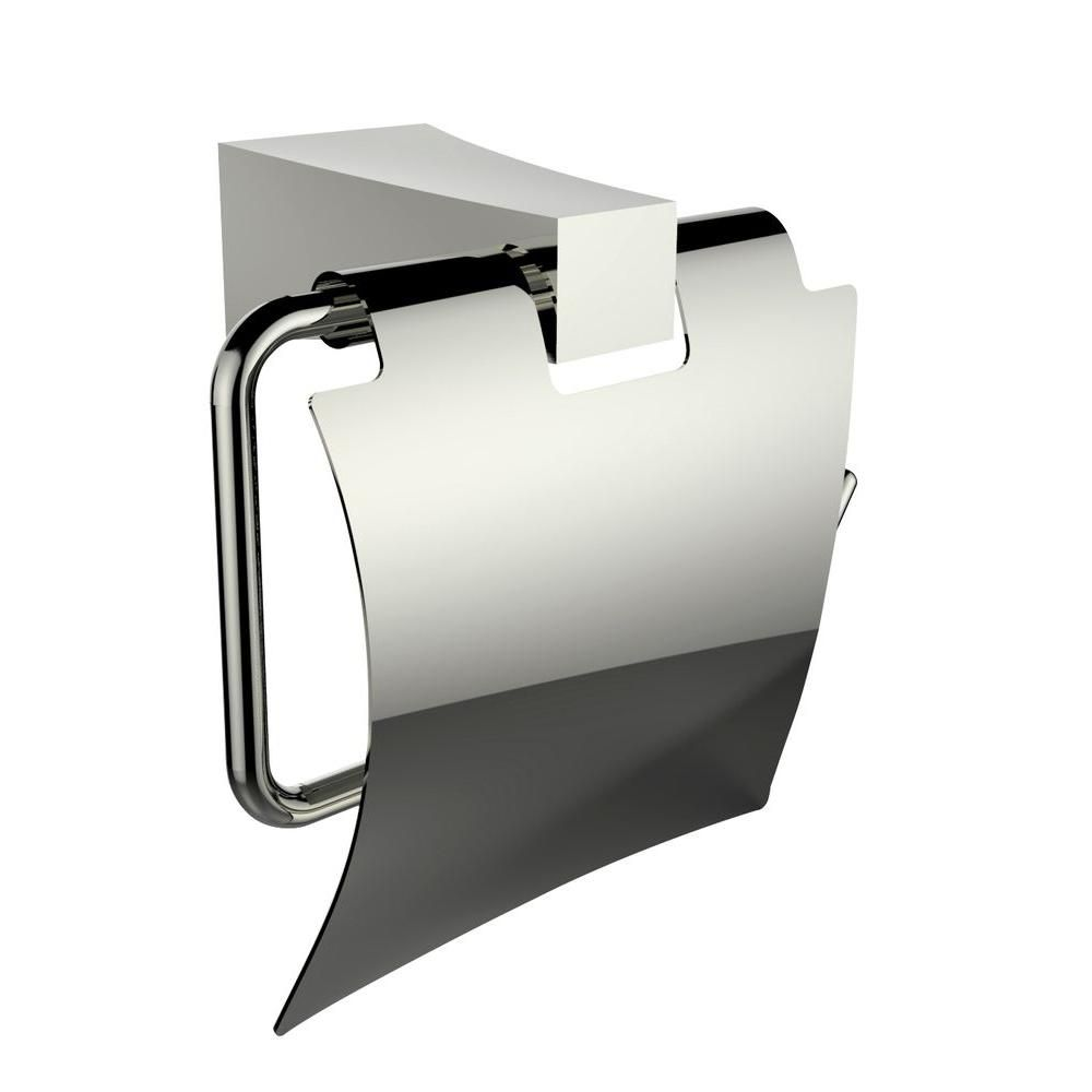 Brass Construit Toilet Paper Holder En Chrome
