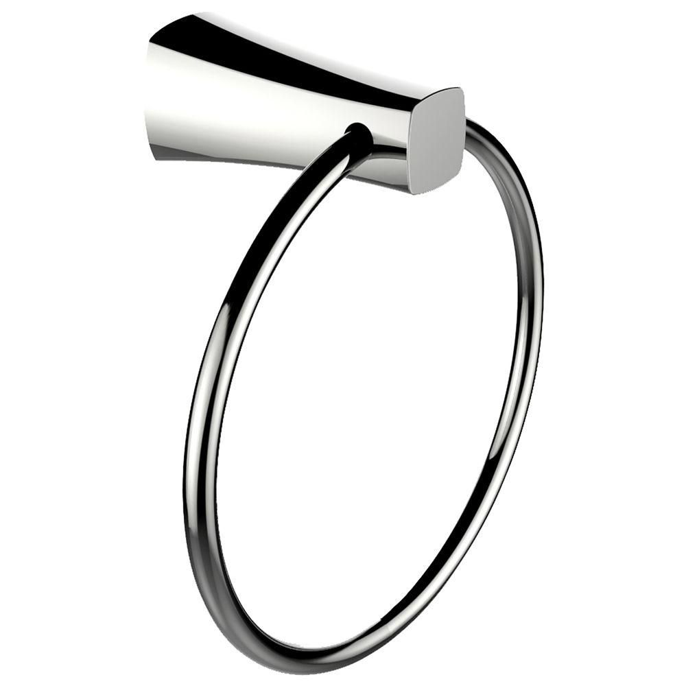 Brass Constructed Towel Ring In Chrome Finish