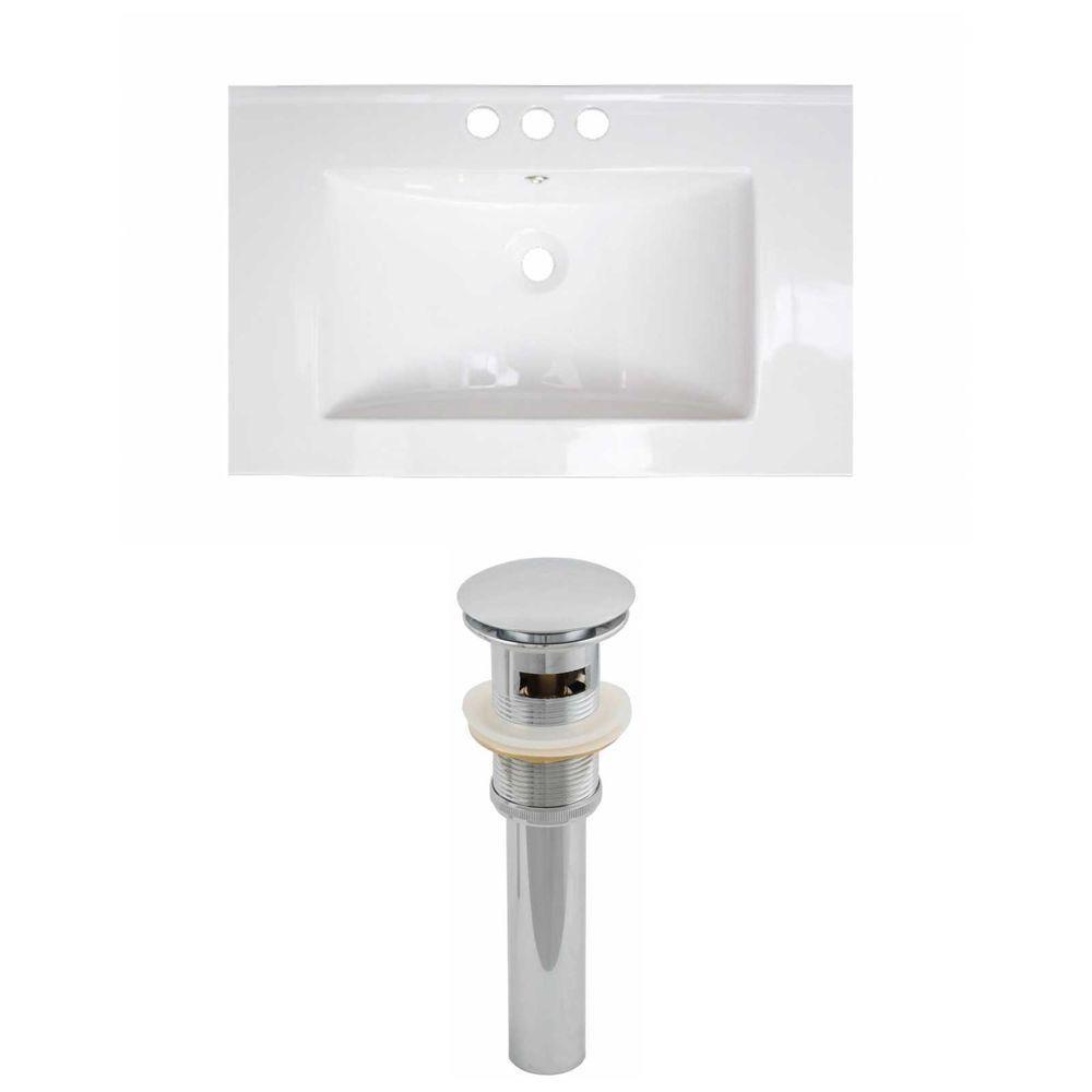 21-Inch W x 18-Inch D Ceramic Top Set In White Color And Drain AI-15548 in Canada