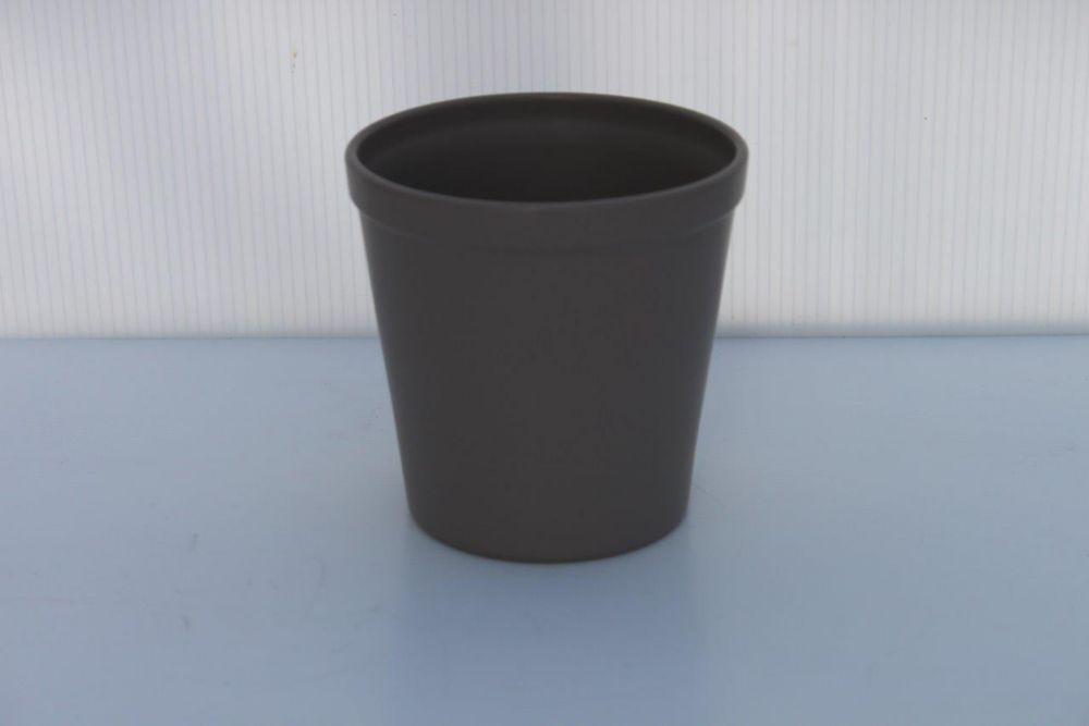 Poterie céramique Gris Pierre mat 6 pouces