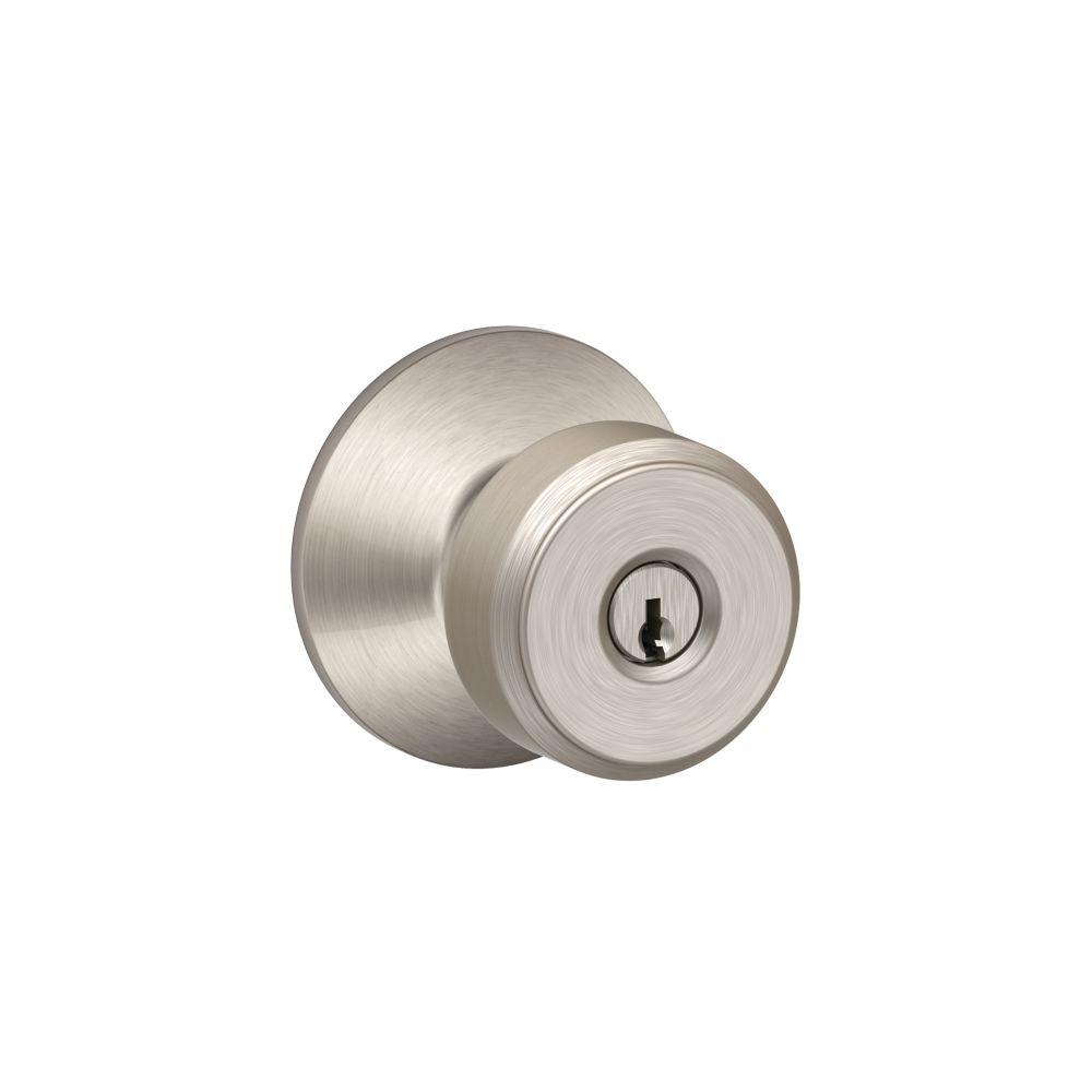 Bowery Satin Nickel Entrance Lock Knob
