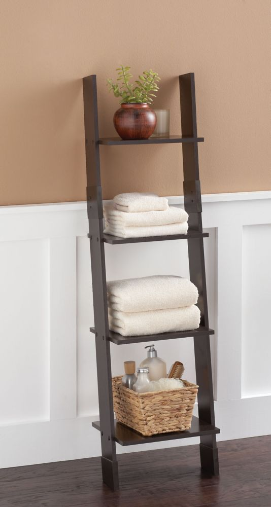 Ladder Style Linen Tower - Espresso