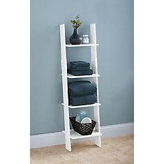 Ladder Style Linen Tower - White