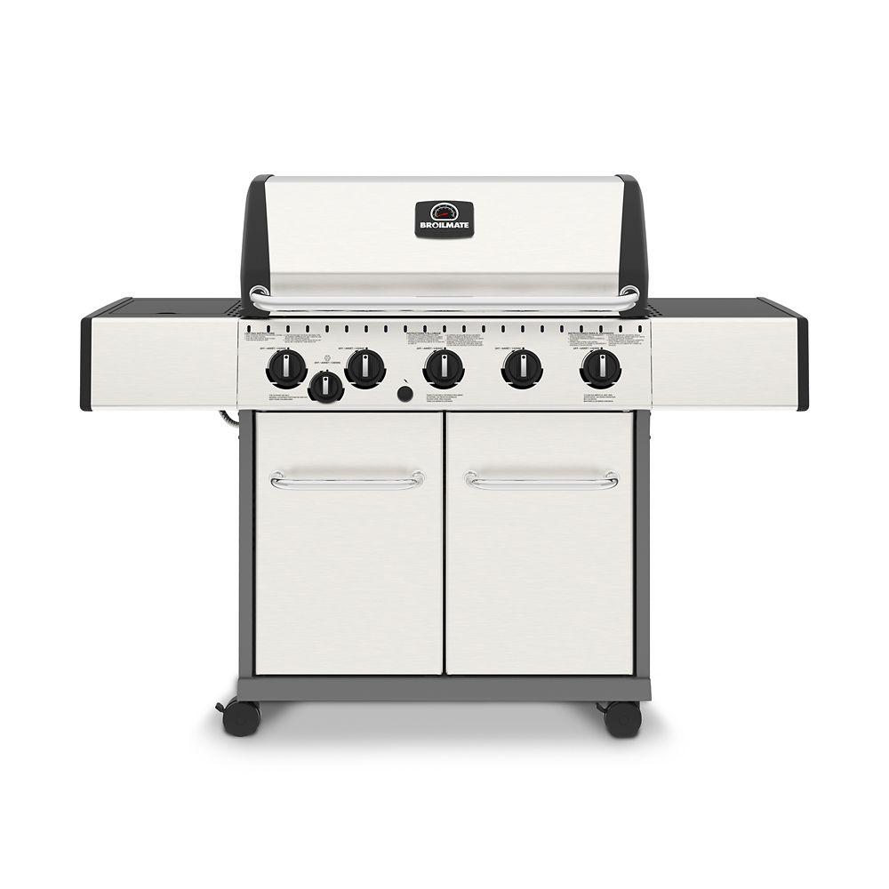 broil mate barbecue au gaz natural 5 bruleurs avec br leur lat ral home depot canada. Black Bedroom Furniture Sets. Home Design Ideas