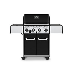 Broil-Mate 4-Burner Gas BBQ with Side-Burner in Black
