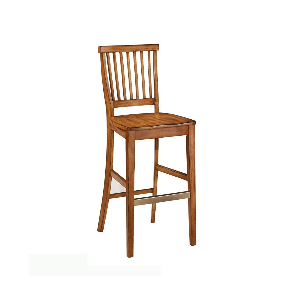 Home styles americana bar stool the home depot canada Home depot wood bar stools