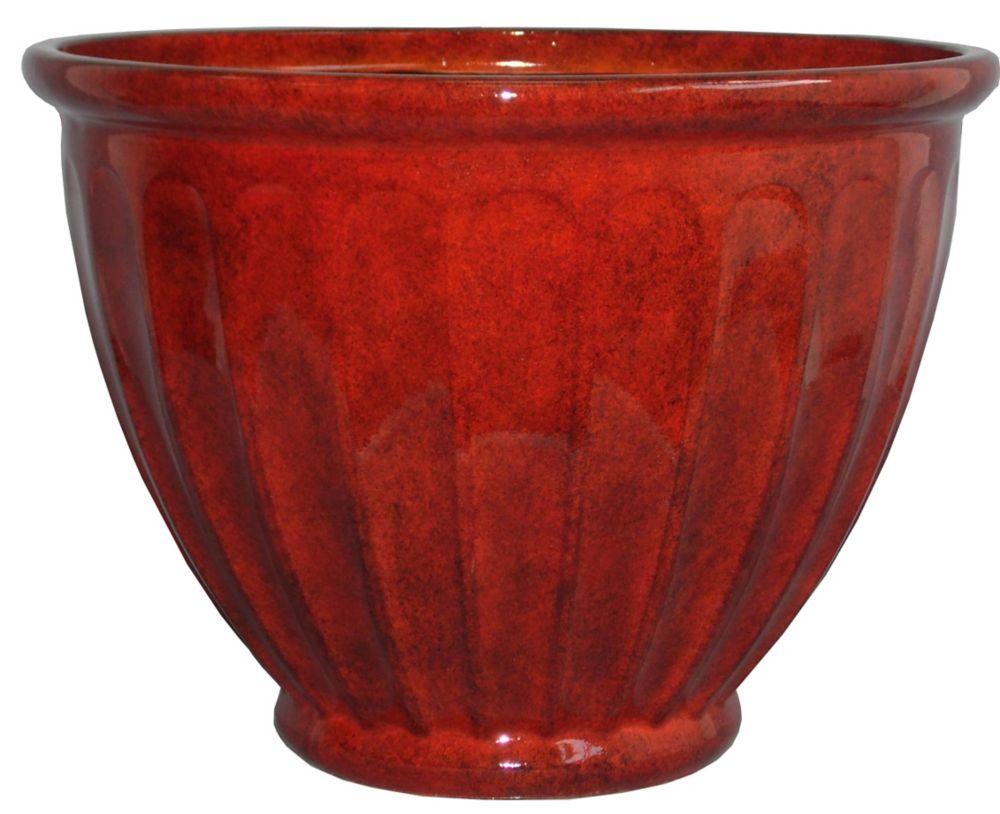 Jardinière Caylo 38,1cm (15po), fini acide rouge