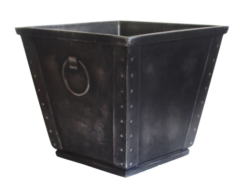 15in Craftswood Planter  Weathered Zinc