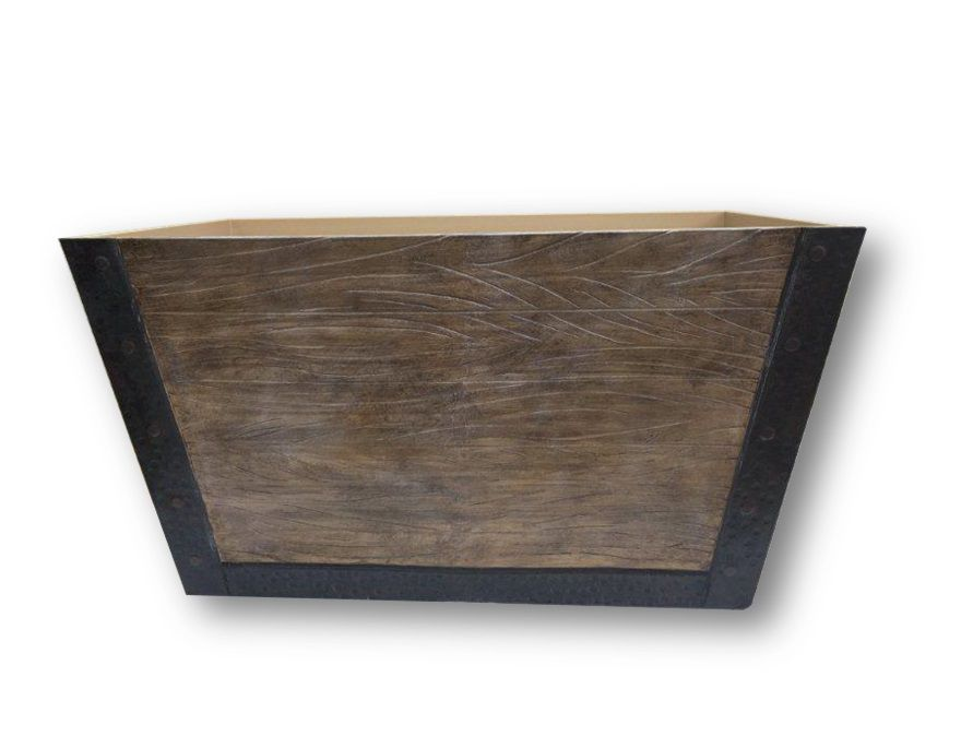 24 Inch  Wooden Aged Crate