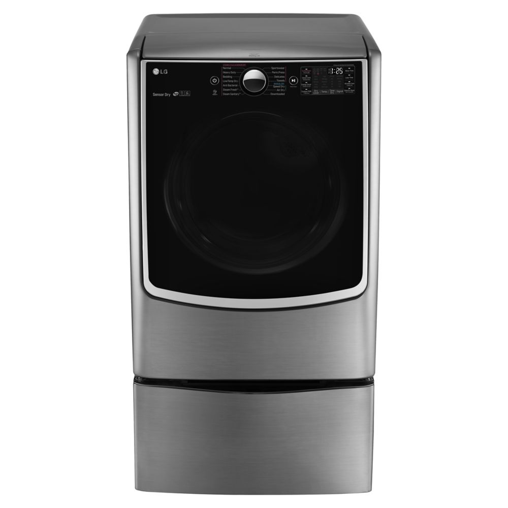 7.4 cu. ft. Ultra-Large Capacity Steam Dryer in Stainless Look