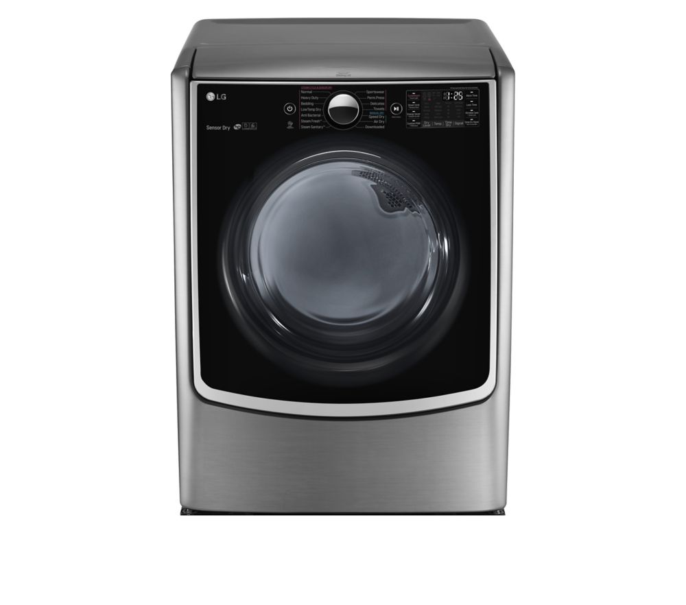 9.0 cu. ft. Mega Capacity Electric Dryer With Steam Technology in Stainless Look