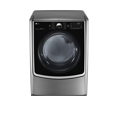 LG Electronics 9.0 cu. ft. Mega Capacity Electric Dryer With Steam Technology in Stainless Look