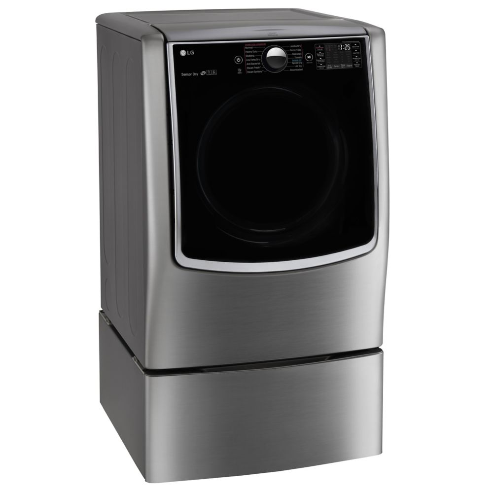9.0 cu. ft. Mega Capacity Gas Dryer With Steam Technology in Stainless Look