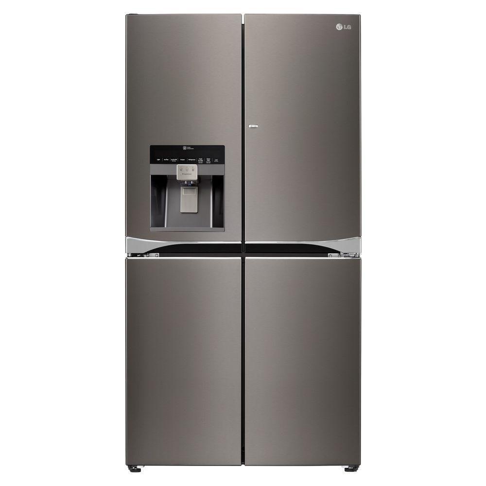 29.8 cu. ft. French Door Refrigerator with Door-In-Door In Black Stainless Steel