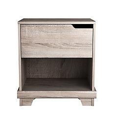 Stockholm 21-inch x 22.5-inch x 15.38-inch 1-Drawer Nightstand in Grey