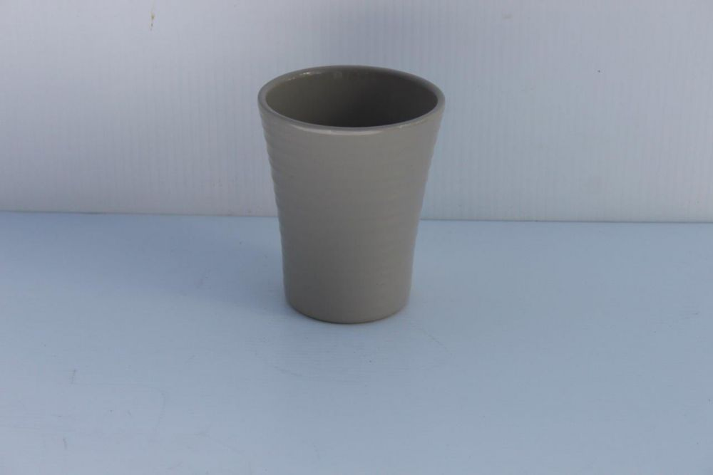 Ceramic Pot Warm Grey Gloss 4in
