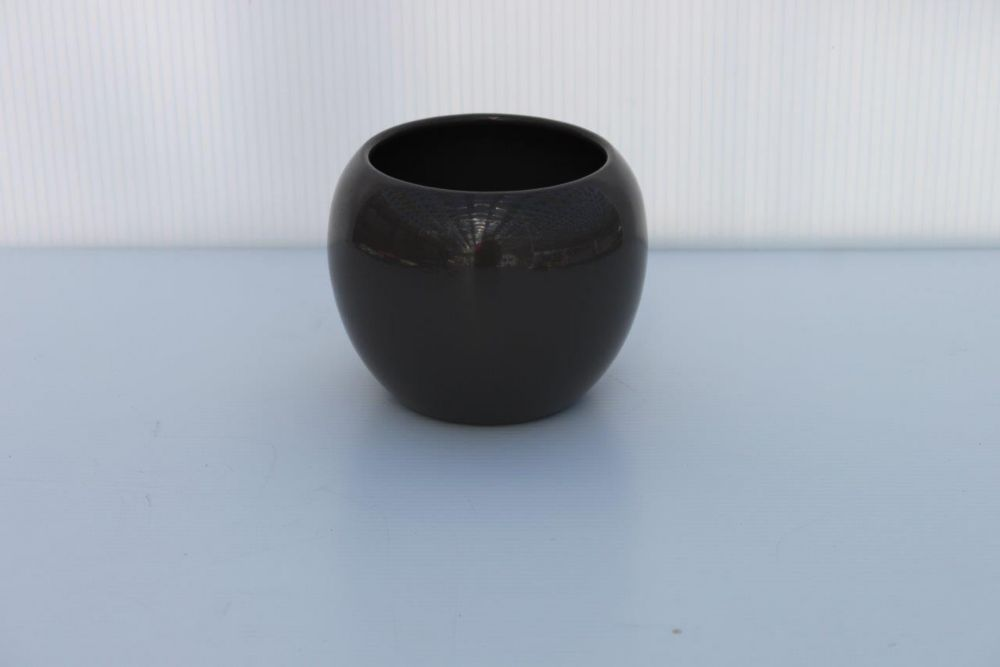 Ceramic Pot Quartz Grey Gloss 4.5in