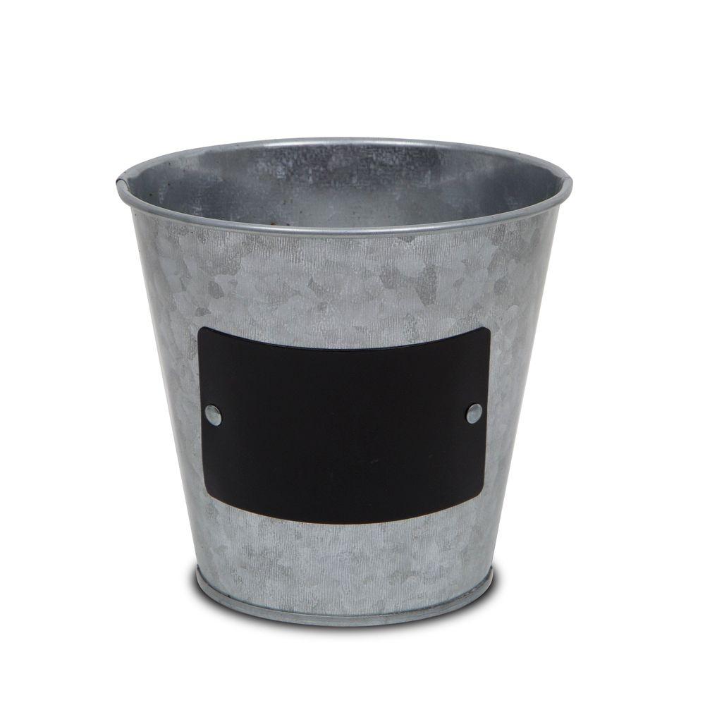 """7.5"""" pot flair, tableau noir galvanisé, gris"""
