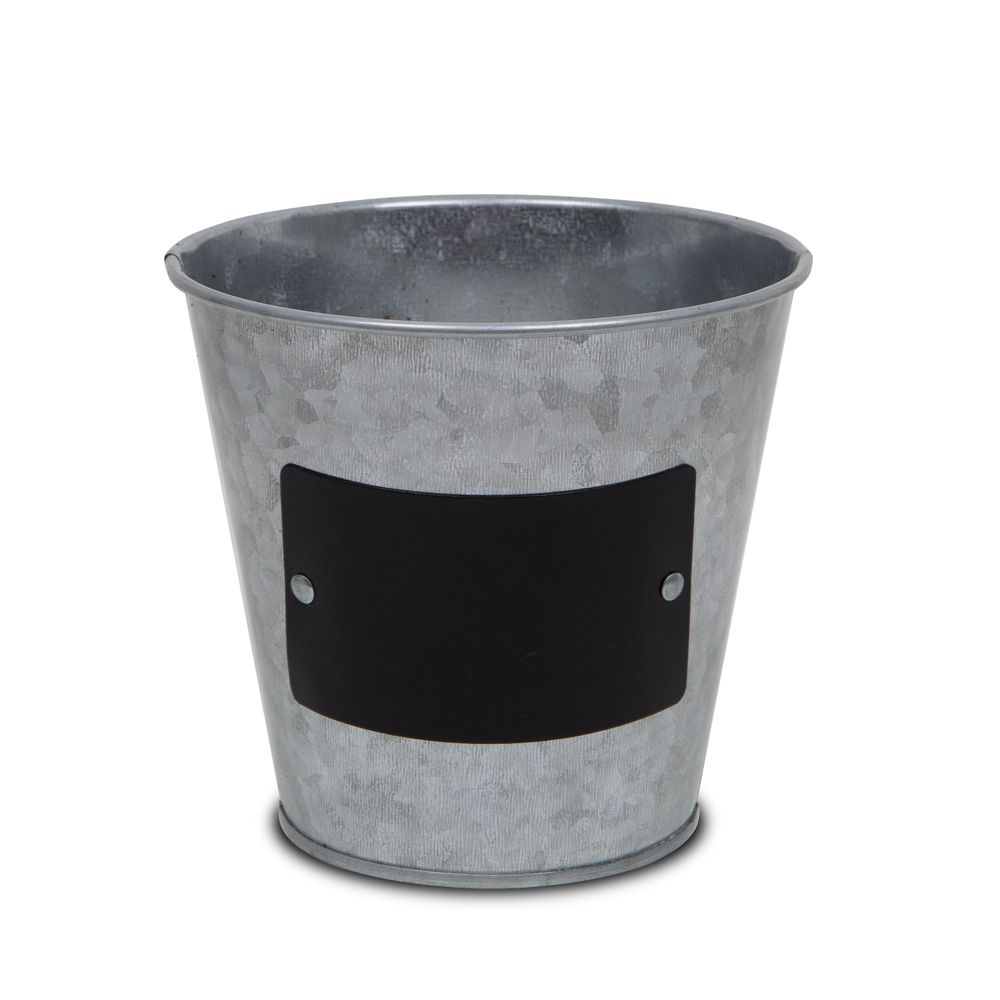 7.5 Inch Galvanized Pot With Chalkboard