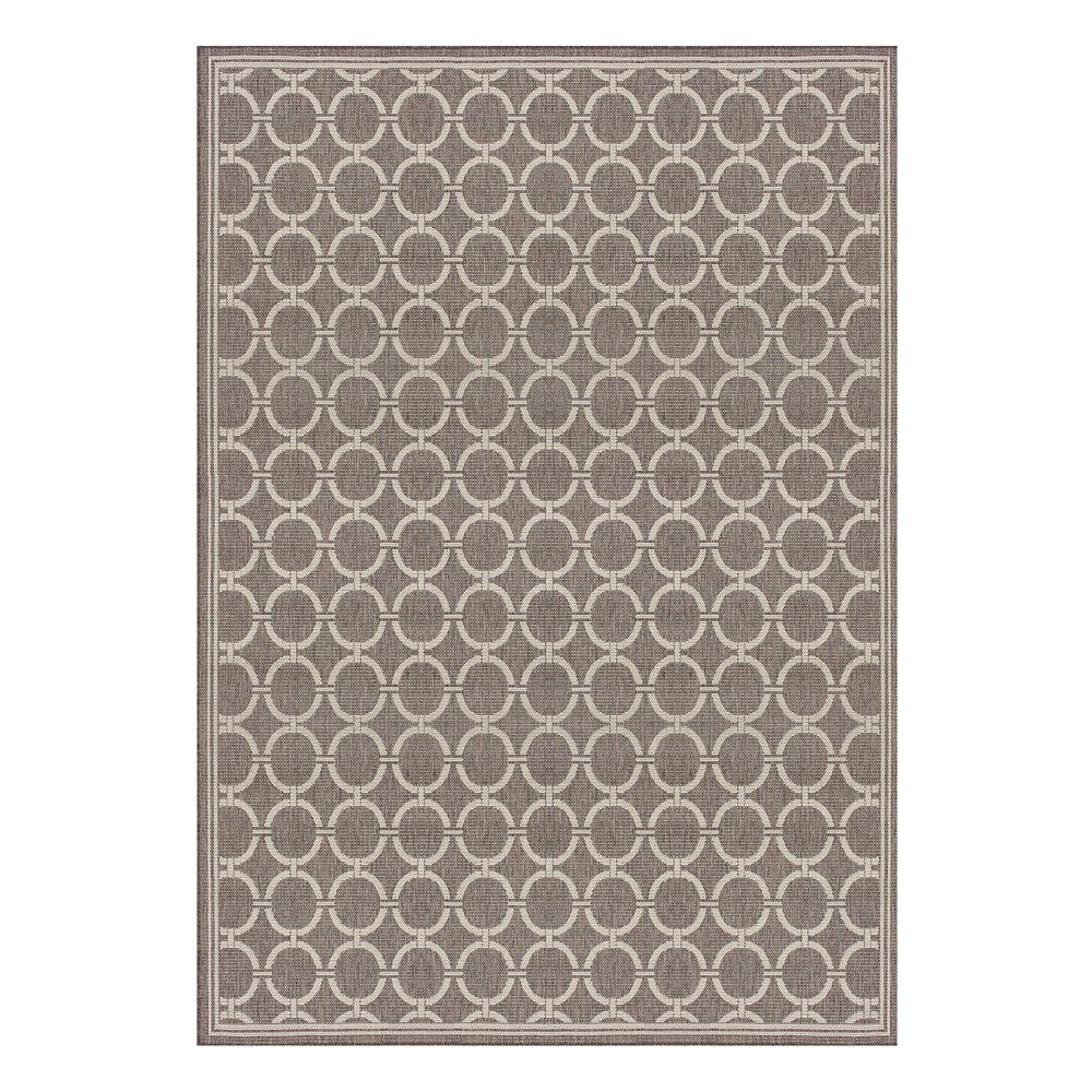 Hampton Bay 7  ft. 7-inch x10  ft. 10-inch Fresco Barlow Taupe/Grey