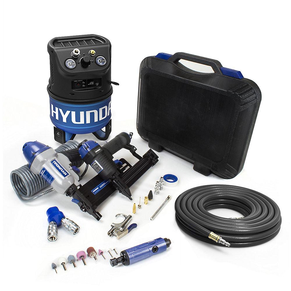 2 Gal. Compresseur d'air électrique portable avec kit de bricolage de 7 outils