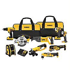 20V MAX Li-Ion Cordless Combo Kit (9-Tool) with (2) Batteries 2Ah, Charger and (2) Contractor Bags