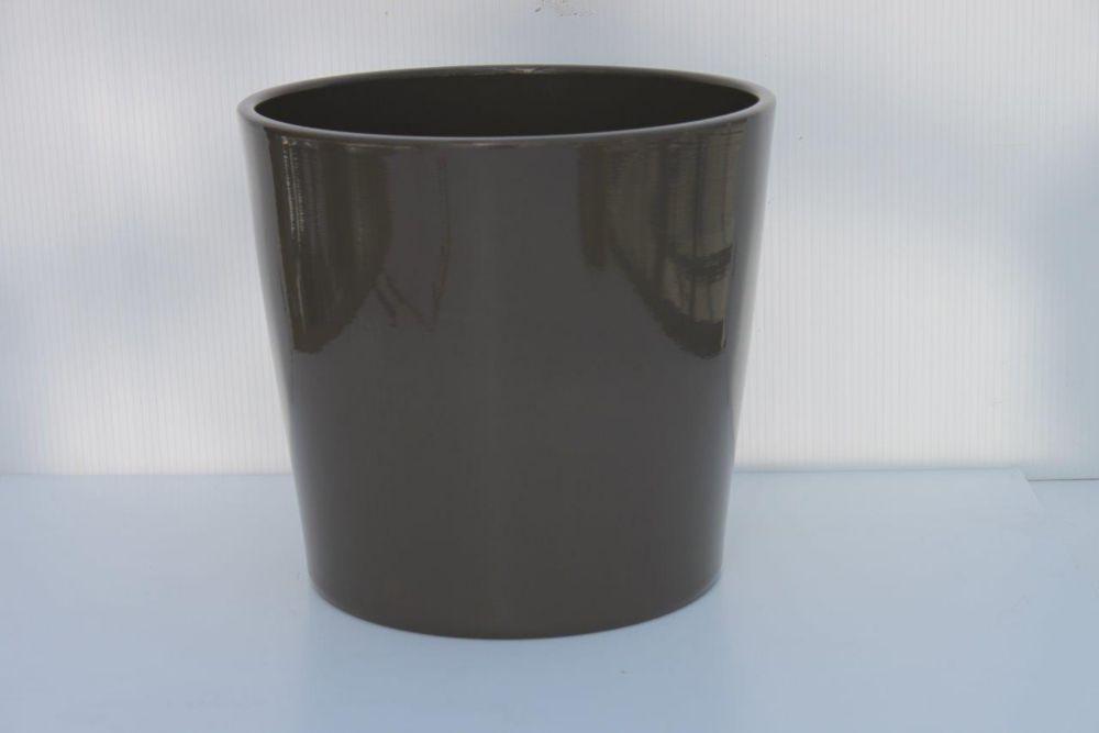 Ceramic Pot Round Quartz Grey 12in