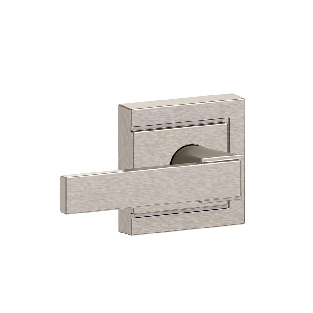 Collins Collection Northbrook Satin Nickel Passage Lock Lever