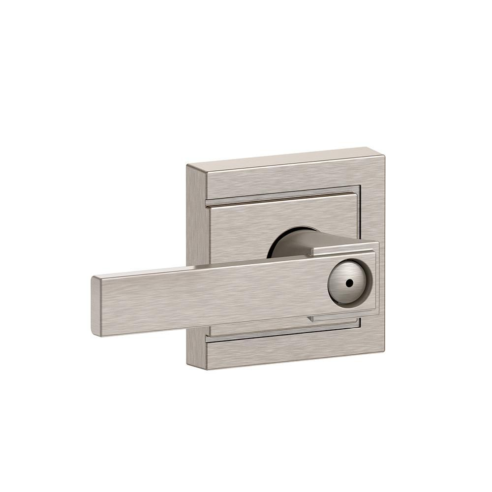 Collins Collection Northbrook Satin Nickel Privacy Lock Lever