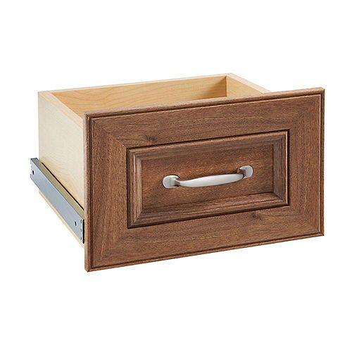 ClosetMaid Impressions 16 -inch Walnut Narrow Drawer Kit