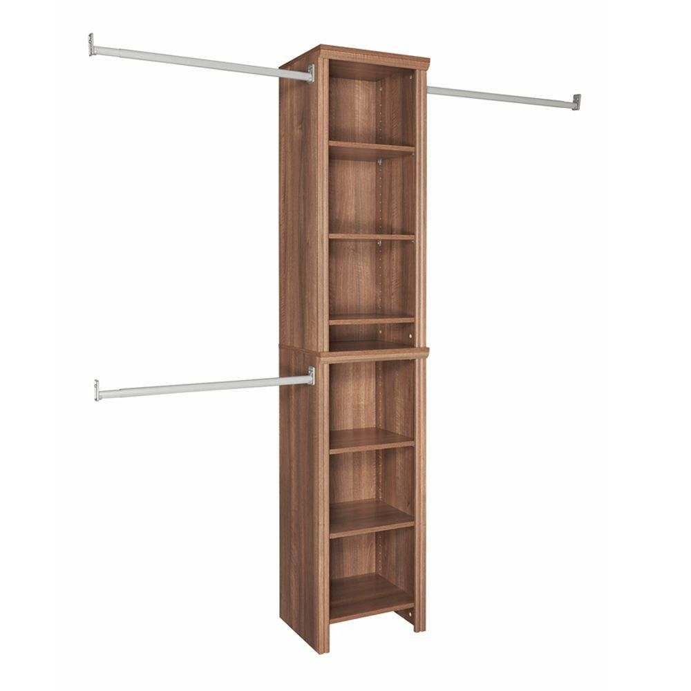 ClosetMaid Impressions 4 ft. to 9 ft. W Narrow Closet Kit in Walnut