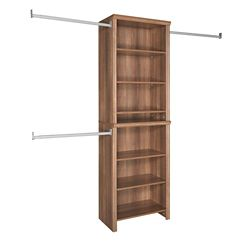 ClosetMaid Impressions 5ft - 10ft Standard Walnut Closet Kit